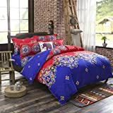 LA-MEJOR-Queen-Size-Microfiber-Bohemia-Exotic-Patterns-Duvet-Cover-Sets
