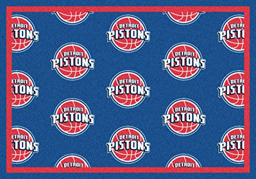 Detroit Pistons Milliken NBA Team Repeat Area Rug (10'9