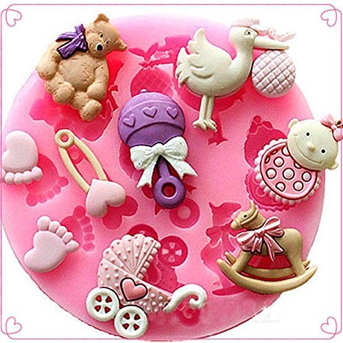 Money coming shop Baby Shower Party 3D Silicone Fondant Mold For Cake Decorating free shipping (Yankee Candle Cheese compare prices)