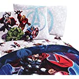 4pc Marvel Avengers Suit Up Full Bed Sheet Set