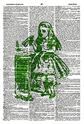 Green \'Drink Me!\' ART PRINT - VINTAGE ART PRINT - ALICE IN WONDERLAND ART PRINT - Vintage Dictionary Art Print - NURSERY ART PRINT - WALL ART - Illustration - Book Print - Children\'s Art Print 585D