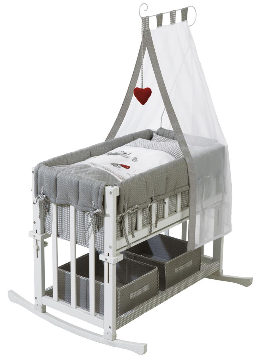 Stubenbett in weiß, Liegefläche: 80×43 cm, vielseitig verwendbar und höhenverstellbar, Maße: B/H/T ca. 148/72/95 cm günstig online kaufen