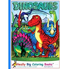 Dinosaurs Giant Super Jumbo Coloring Book English and Spanish Edition Paperback