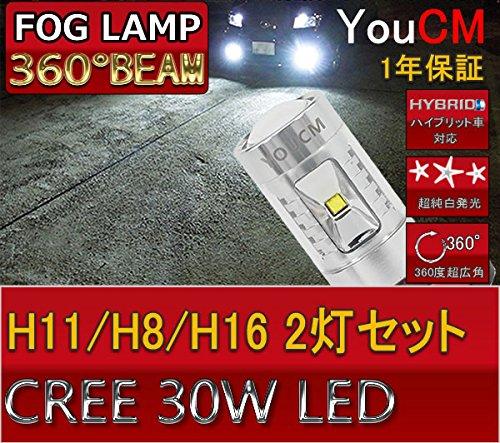BMW 3シリーズ H17~ E90・91 セダン・ツーリング CREEチップ H11 30W フォグランプ&キャンセラー 車検対応LED YOUCM[1年保証]