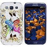 mumbi Hybrid H�lle Samsung Galaxy S3 Schutzh�lle (harte R�ckseite) bunter Schmetterling