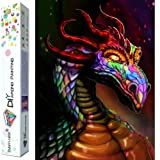 Dylan's Cabin DIY 5D Diamond Painting Kits for Adults,Full Drill Embroidery Paint with Diamond for Home Wall Decor(dragon/16x12inch) (Color: dragon 6)