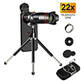 22x Phone Camera Telephoto Lens, Double Regulation Monocular Telephoto Lens with Detachable Clamps Adjustable Tripod for iPhone XR,XS MAX,XS,X,8,8plus,7,7plus,6,6s,6plus,Samsung.Huawei Smartphone (Color: 22X Telephoto Lens)