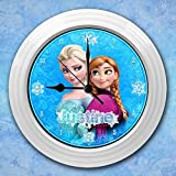 Girl's Cute Ice Froze PRINCESS Personalized WALL CLOCK