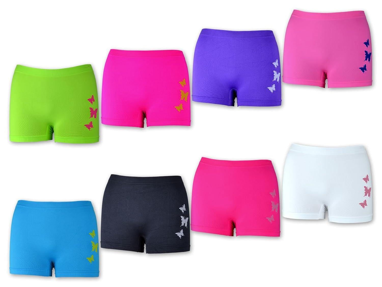 5, 10, 20 oder 30 Stück Damen Panties Hotpants Pantys Slips - Microfaser - Schwarz Weiß Blau Grün Rosa Pink - Schmetterling