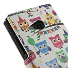 JUJEO Many Cute Owls Leather Wallet Stand Case for Nokia Lumia 730 Dual SIM - Non-Retail Packaging - Multi