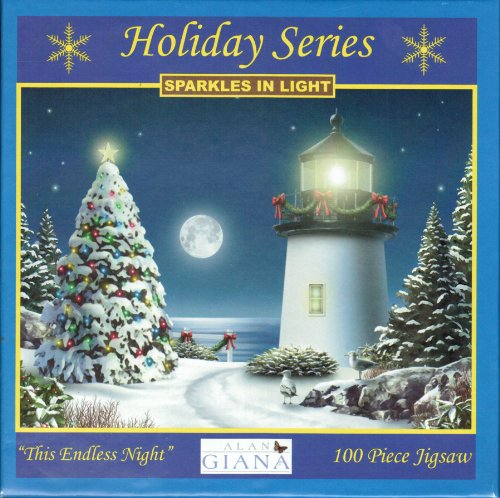 Holiday Series 100 Piece Jigsaw Puzzle - Sparkles in Light - This Endless Night