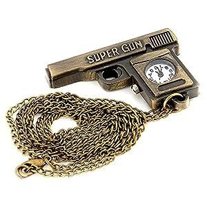 Children's Gun Style Alloy Quartz Analog Necklace Watch