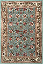 Ottomanson Ottohome Collection Persian Style Rug Oriental Rugs with Non-Skid (Non-Slip) Rubber Backing Area Rug, 39\