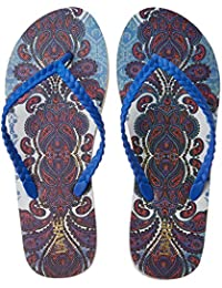 Lavie Women's 4400 Blue Flip-Flops And House Slippers - 3 UK/India (36 EU)