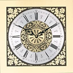 Floral Design Square Metal Dial