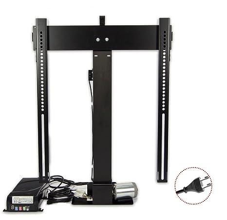 Tv Lift K-1 Eco Black, Lift Tv Telescopico Elevatori motorizzati per tv a scompar,sa nel mobile,RF Telecomando, made in EU, 5 anni di garanzia, remoto incluso