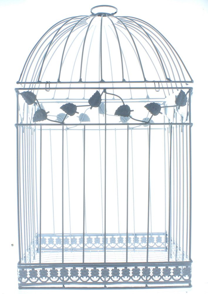 Fun Express White Birdcage Wedding Gift Card Holder 4
