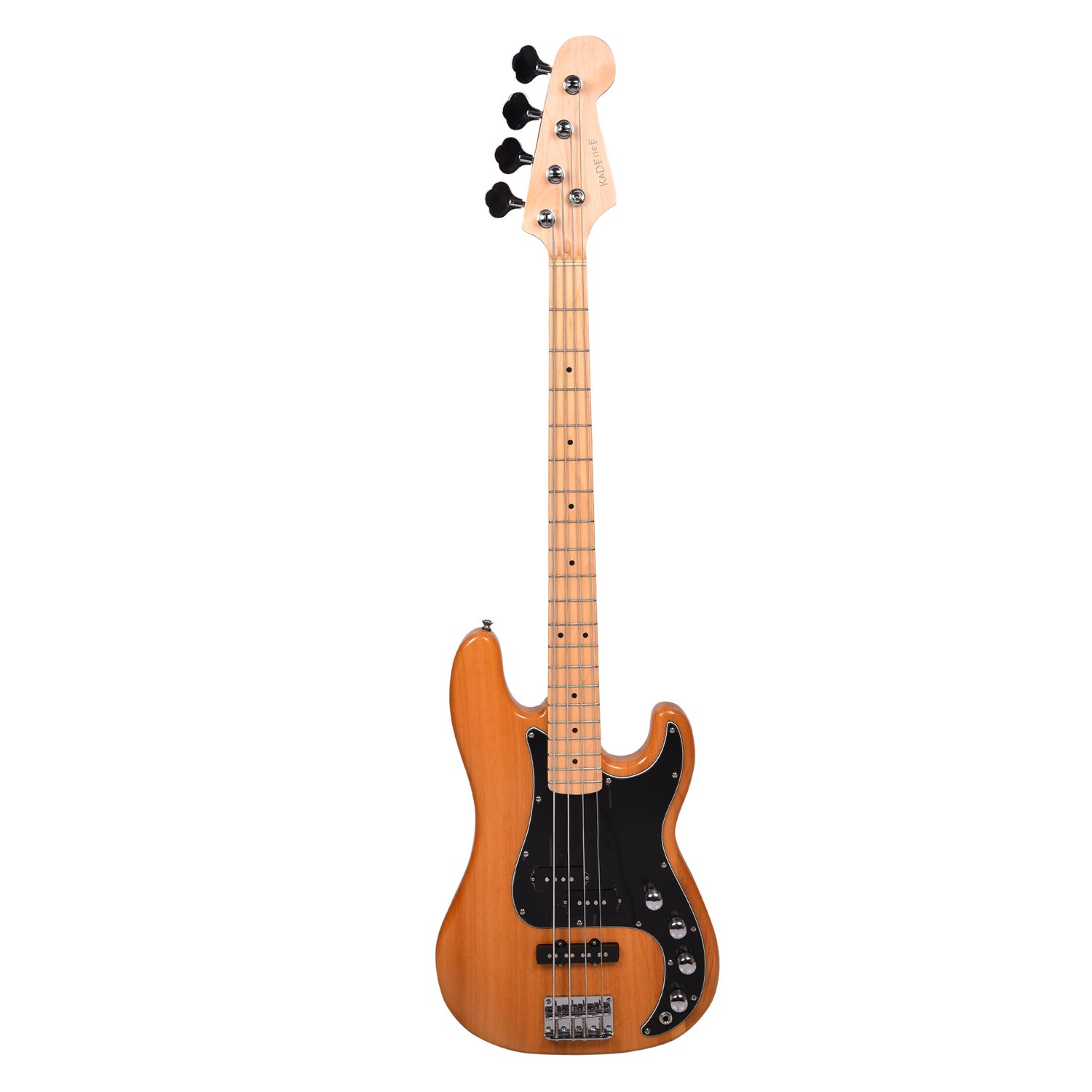 My eb bass squier vintage modified jazz bass - Kadence Chronicle Series Electric Bass Guitar Natural Ash Wood With P J Pickup 2