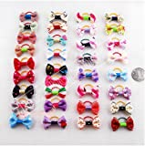 20 X Puppy Dog Cute Hair Bows Pets for Grooming Pet Charms Hair Accessories