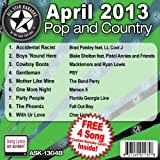 All Star Karaoke April 2013 Pop and Country Hits B (ASK-1304B)