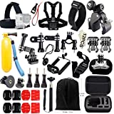 45-in-1 Gopro Accessory Bundle, Iextreme Action Camera Tool Kit for Gopro Hero 1/2/3/4 Ideal for Outdoor Sport, Adventure, Parkour, Boating Diving, Surfing, Cycling