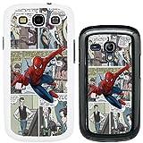 DC Marvel superhero comic book cover case for Samsung Galaxy S3 i9300i Spiderman - G730 - Black