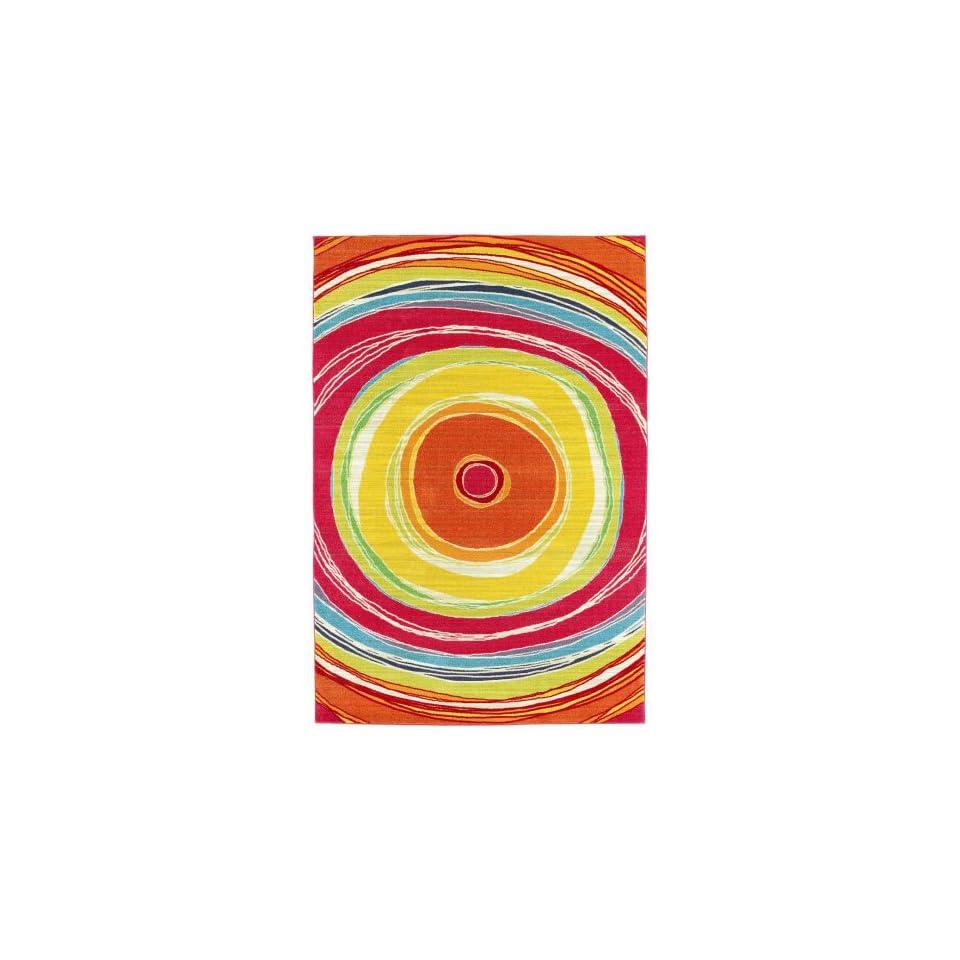 Shaw Orbital/Watermelon Printed Area Rug 3 x 410
