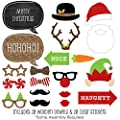 Christmas Party - Piece Photo Booth Props Kit - 20 Count by Big Dot of Happiness, LLC