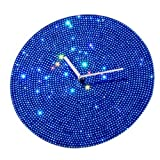 "Mebelkart ""Blue Crystal Dial"" Wall Clock"