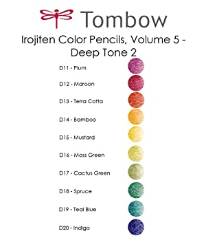 Tombow Irojiten Colored Pencils (Woodlands) (Color: Woodlands, Tamaño: Woodlands)