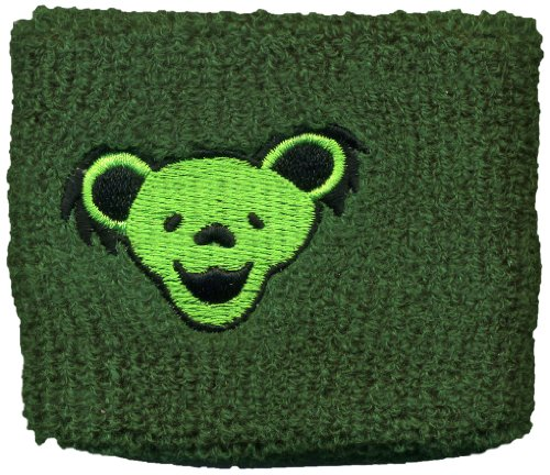 Licenses Products Grateful Dead bear Heads on Green Wrist Band - 1