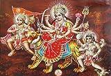 DollsofIndia Bhagawati Hanuman Batuk Bhairav Glitter Poster - 14 x 17 inches