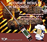 Geatex Instant Read Thermometer - Best Digital Thermometer for Meat, Candy, BBQ, Candy, and Liquids - Oven Thermometer