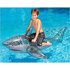 Inflatable Ride-On Shark Pool Float Toy