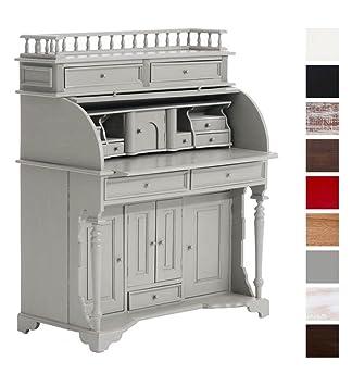 CLP stile coloniale in legno ufficio, 102x 56cm, Mogano, fino a 9colori a scelta Grey