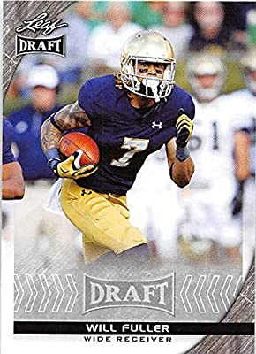 Will Fuller Football Card (Notre Dame, Houston Texans) 2016 Leaf Draft #90 Rookie