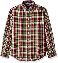 Gant Boys' Shirt (GBSEF0026_Multicolor_XL)