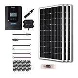 Renogy 300 Watt 12 Volt Off Grid Solar Premium Kit with Monocrystalline Solar Panel and 40A MPPT Rover Controller (Color: RVR40, Tamaño: 300W Mono Panel-40A Rover)