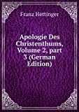 img - for Apologie Des Christenthums, Volume 2,  part 3 (German Edition) book / textbook / text book