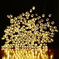 Ucharge Solar Christmas Lights 72ft 200 LED Outdoor Fairy String Lights For Patio, Home, Garden,…