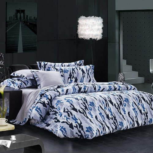 Blue Camo Baby Bedding 8225 front