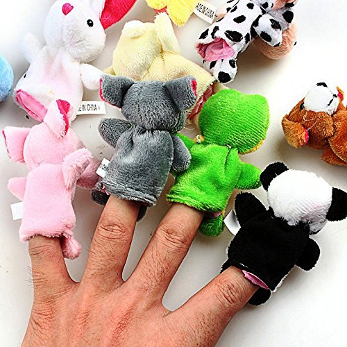 10pcs/lot Baby Plush Toy,finger Puppets,talking Props,finger Doll,baby Dolls,baby Toys,animal Doll,cartoon - 1