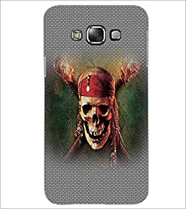 PrintDhaba Pirate Skull D-5015 Back Case Cover for SAMSUNG GALAXY A8 (Multi-Coloured)