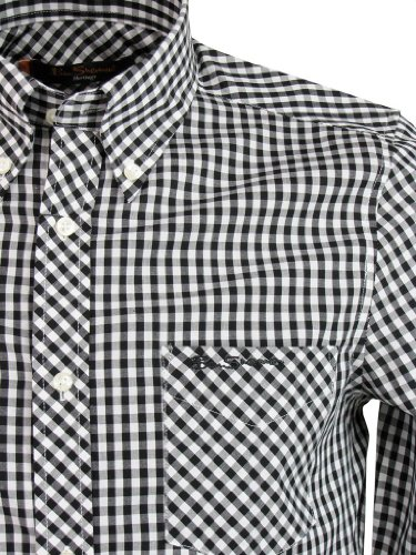 Ben Sherman Shirt 'WiltShire' Long Sleeve Gingham Check [Large]