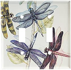 Art Plates - Dragonflies Switch Plate - Single Toggle Double Toggle