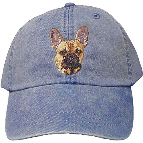 Cherrybrook Dog Breed Embroidered Adams Cotton Twill Caps - Royal Blue - French Bulldog (Cap Bulldog compare prices)