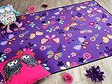 Kinder Spiel Teppich Schmetterling Lila in 24 Größen