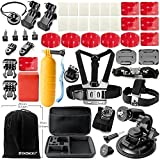 Zookki Accessories for GoPro Hero 4 Black Silver GoPro Hero 3+ Black Silver GoPro Hero 3 Black Silver GoPro Hero 2 Black Silver Accessories Bundle Kit for GoPro 4 3+ 3 2 Accessory Kit for GoPro 4 3+ 3 2 SJ4000 SJ5000 SJ6000 Sports Camera Accessory Kit