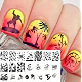 1 Pc Beach Sea Nail Art Stamp Plate Decorations Nails Stamper Plates Kit Marvelous Popular Gel Polish Spring Animal Clear Design