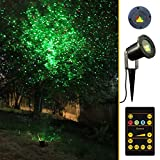 Almatess Waterproof Outdoor IP65 Red & Green Laser Christmas Lights Star Projector with Wireless Remote Control for Seasonal Decoration,Wedding,Home Party,Garden,DJ Disco (19ft Wire) [1 Year Warranty]